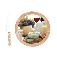 Deska do serów z nożami 4 szt. obrotowa Nuova R2S Gift