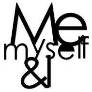 Napis na ścianę DekoSign ME MYSELF & I czarny