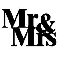 Napis na ścianę DekoSign MR&MRS czarny