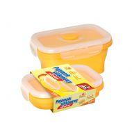 Pojemnik silikonowy składany 350 ml Jan Niezbędny żółty
