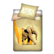 Pościel Słoń 160 x 200 cm Carbotex Animal Planet (AP5001)
