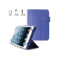 PURO Universal Booklet Easy - Etui tablet 7'' w/Folding back + stand up + Magnetic Closure (granatow