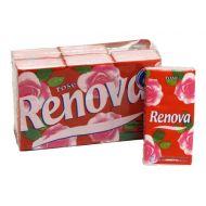 RENOVA 6x10szt. Chusteczki higieniczne o zapachu czerwonej Róży