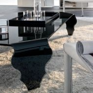 Stolik szklany King Bath Vendo czarny