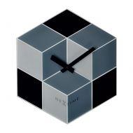 Zegar ścienny 43x37,5 cm Nextime Cubic