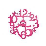 Zegar ścienny Koziol Pi:p różowy