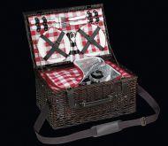 Kosz piknikowy dla 4 osób Cilio Varese brązowy