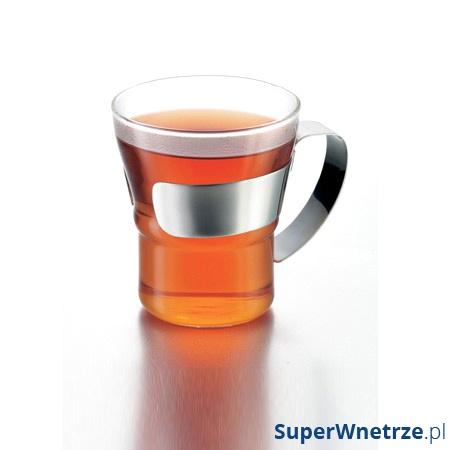 Komplet 2 szt. szklanek ze stalowym uchwytem 0,2l Bodum Assam BD-4552-16