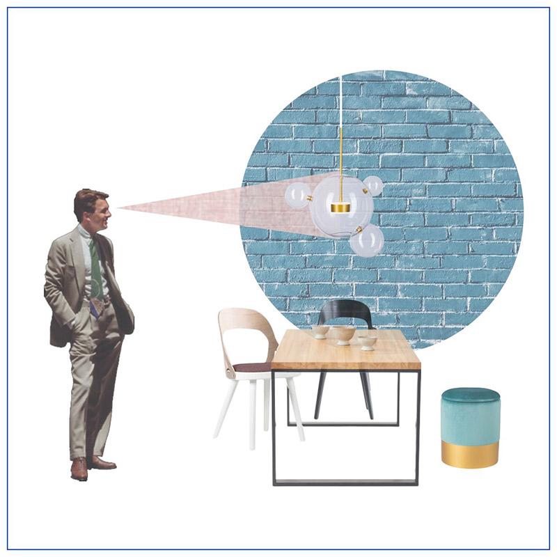 Jak wysoko powinna być zawieszona lampa nad stołem