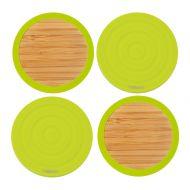 Dwustronne podstawki pod szklanki 4 szt. Contento Tip-Top zielone