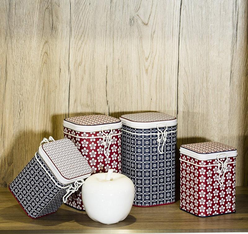 puszki do przechowywania herbaty w nowoczesne wzorki