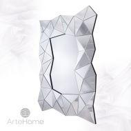 Amber Silver - lustro dekoracyjne w ramie lustrzanej
