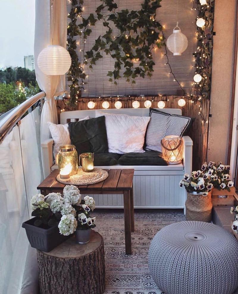 oświetlenie na balkon - pomysły i inspiracje