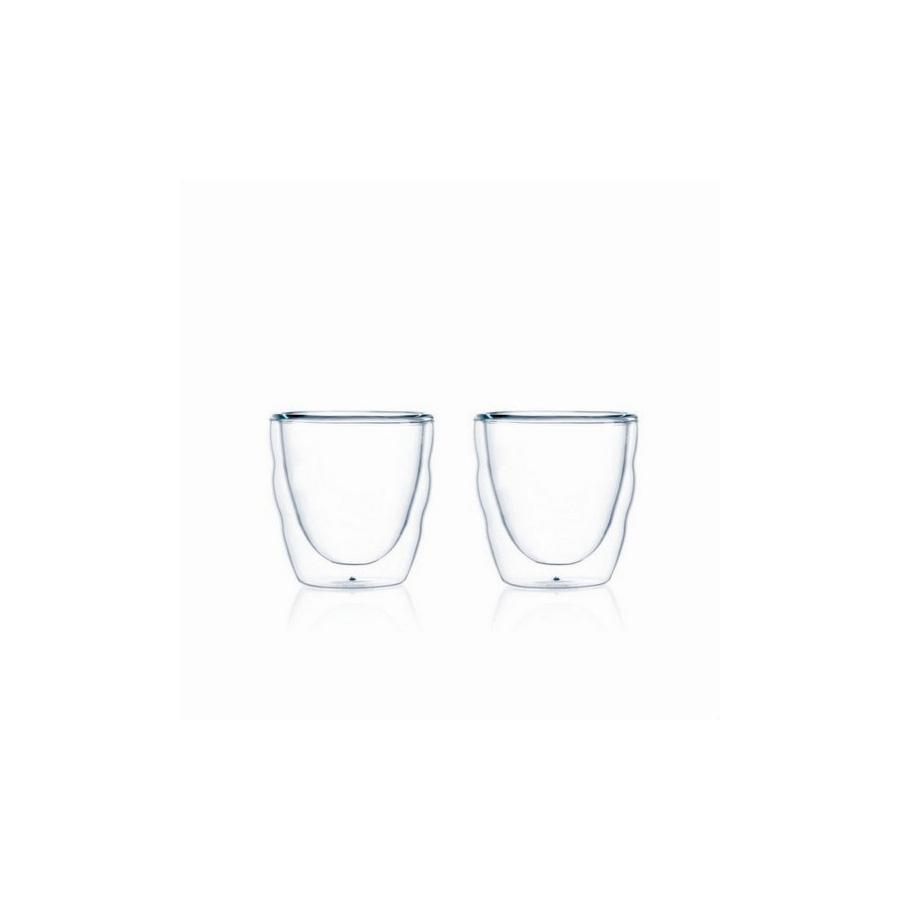 Szklanki termiczne 2 szt Pilatus Bodum 0,08l przezroczysty