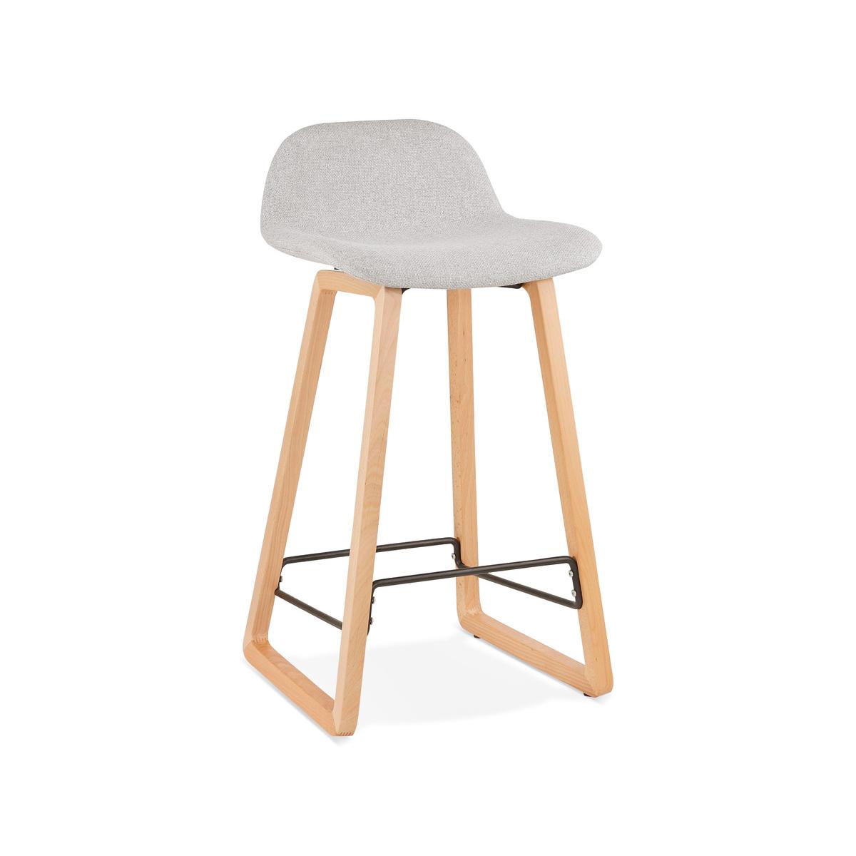 Hoker Kokoon Design Trapu Mini jasnoszary nogi naturalne