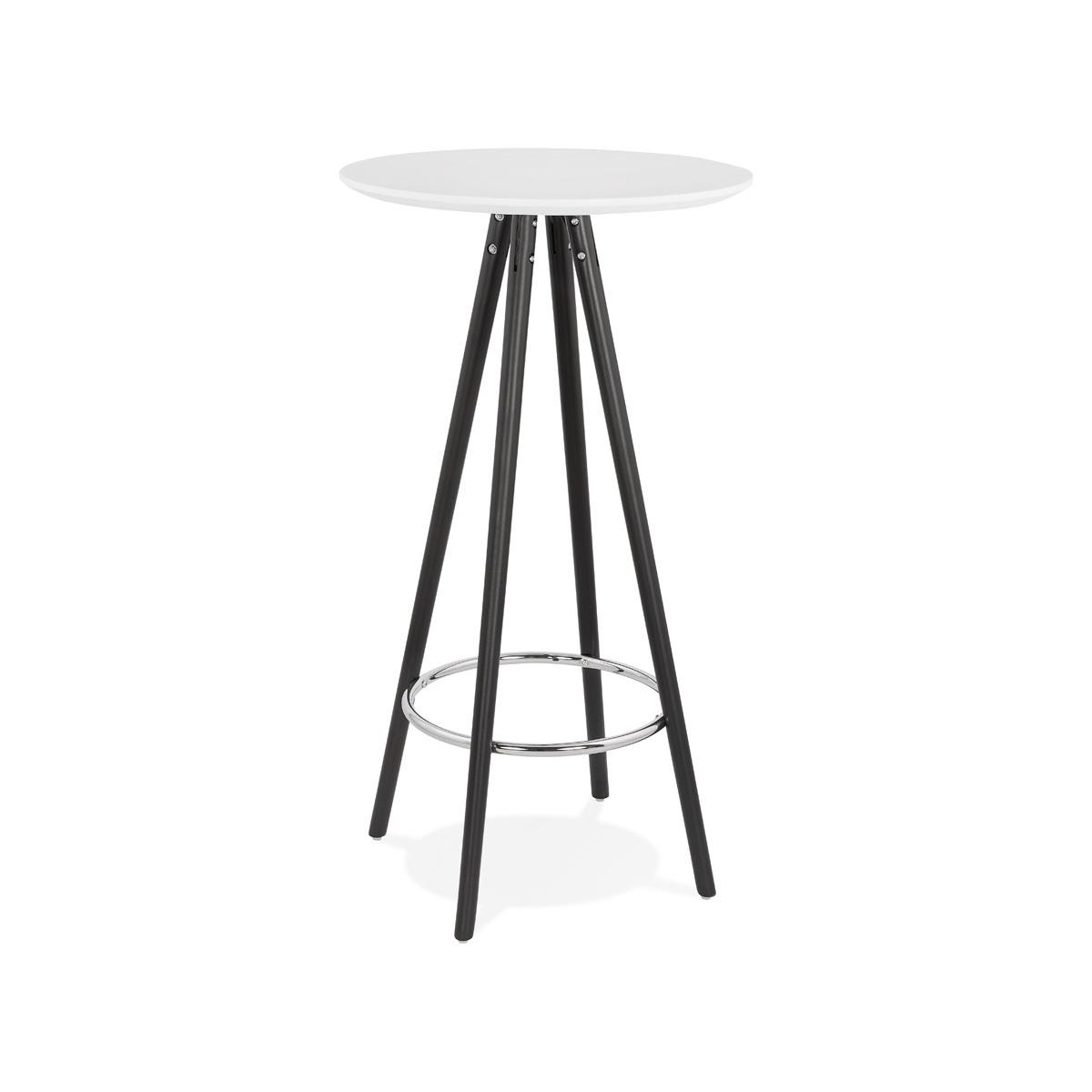 Stół barowy Kokoon Design Deboo biały nogi czarne