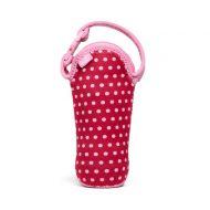 Termoopakowanie do butelek z uchwytem BUILT Bottle Buddy Baby Pink Mini Dots