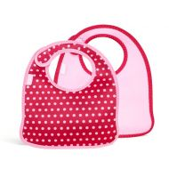 2 śliniaki dla dzieci BUILT Mess Mate Baby Pink Mini Dots