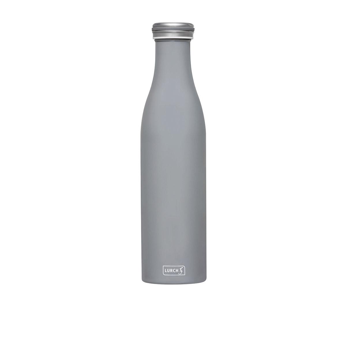 butelka termiczna, stalowa, 0,75 l, jasnoszara