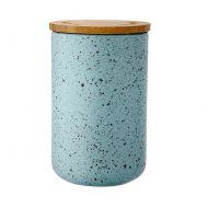 Ceramiczny pojemnik z bambusowym wieczkiem 17cm Stak Duck Egg Speckled Ladelle błękitny LD-61106