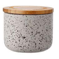 Ceramiczny pojemnik z bambusowym wieczkiem 9cm Stak Speckled Ladelle grafitowy LD-61098