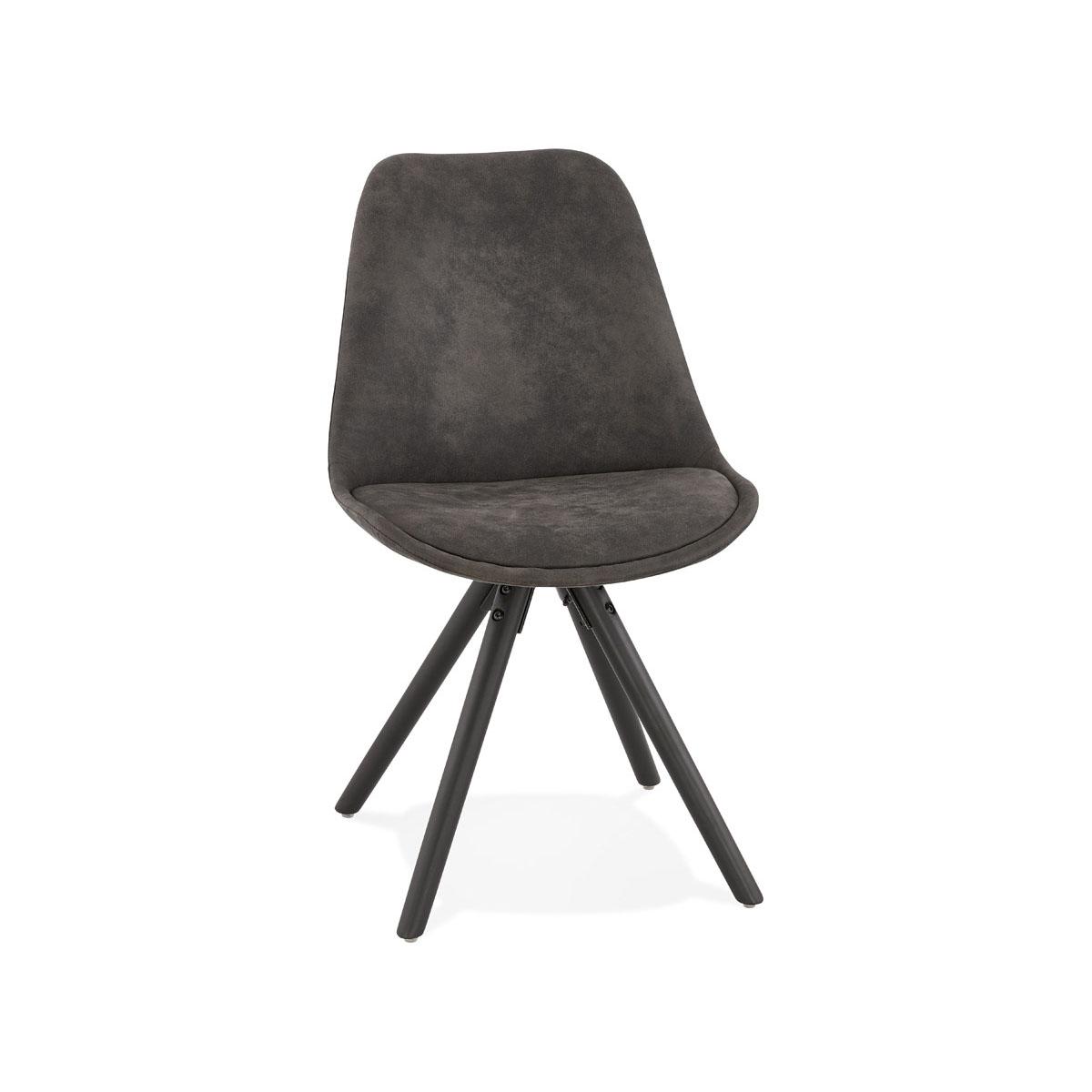 Krzesło Kokoon Design Charlie ciemnoszare nogi czarne