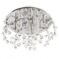 Kryształowy plafon 56x56x39 cm Light Prestige Crystal srebrny
