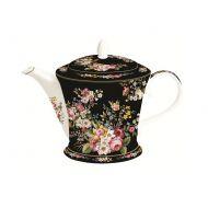 Czajnik porcelanowy 1L Nuova R2S Blooming Opulence czarny