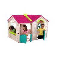 Domek dla dzieci 120x170x117cm Bazkar GARDEN VILLA czerwony