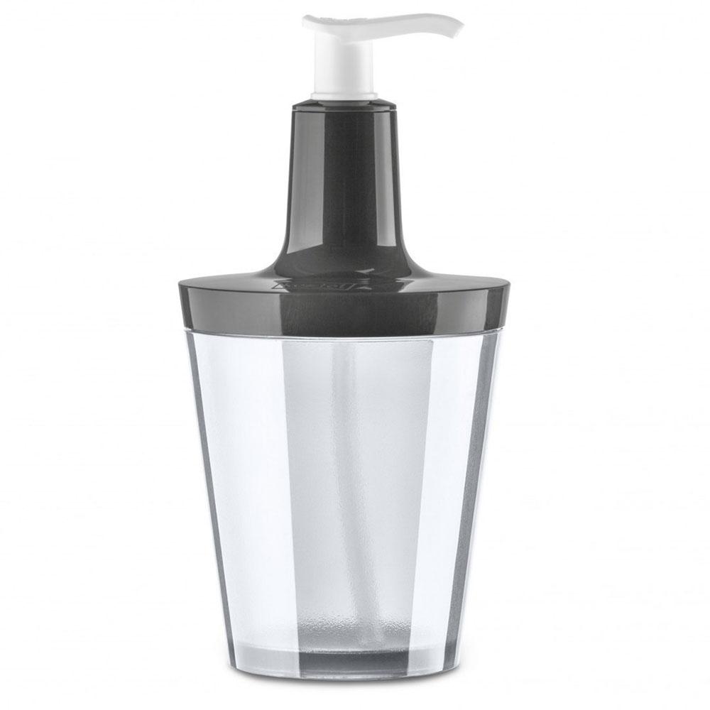 Dozownik do mydła 250 ml Koziol FLOW ciemny szary/transparentny KZ-5879324