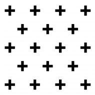 Dekoracja ścienna 3D PLUS 20 szt. GEOMETRIC czarna