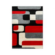Dywan FIRE 080x150 100 GREY RED 6310