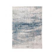 Dywan naturalny 170x240 cm Louis De Poortere Mad Man Bronx Azurite niebiesko biały