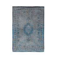 Dywan naturalny 170x240 cm Louis De Poortere Orient Grey Turquoise niebiesko szary