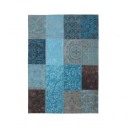 Dywan naturalny 170x240 cm Louis De Poortere Vintage Patchwork Turquoise turkusowy
