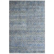 Dywan ręcznie tkany 185x275 cm Miloo Home Art. Natural szaro-niebieski