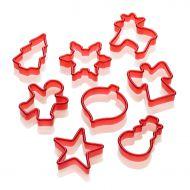 Foremki do wykrawania ciastek 8 szt. Lurch Base&Soul czerwone