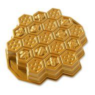 Forma do ciasta plaster miodu Nordic Ware złota