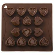 Forma do czekoladek lub kostek lodu 14 sztuk serca Pavoni
