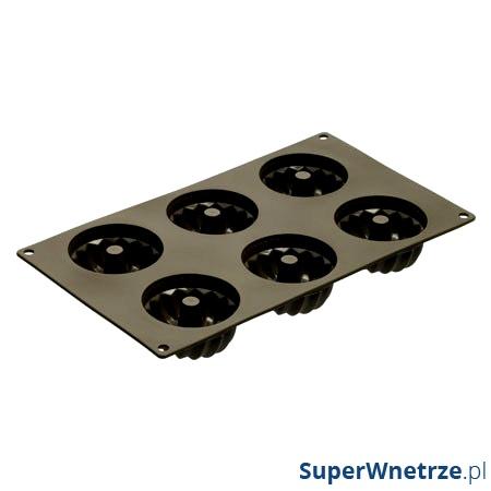 Forma na 6 babeczek z dziurką Lurch FlexiForm brązowa LU-00085029