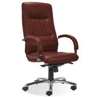 Fotel Linea Steel Chrome (multiblock) SD-05 ciemno brązowy