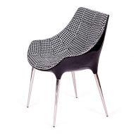 Fotel 56x58x81cm King Home Passion Tetris czarno-szary