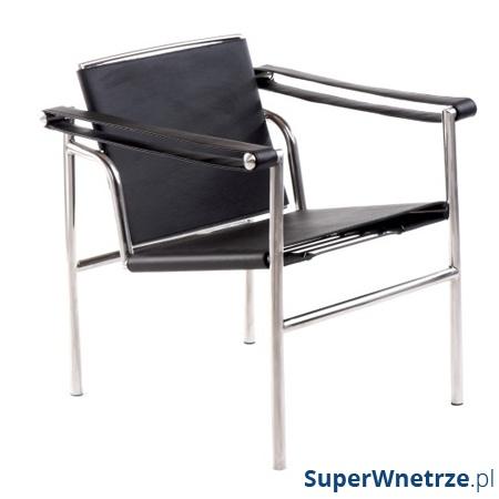 Fotel Stripe czarna skóra DK-3304