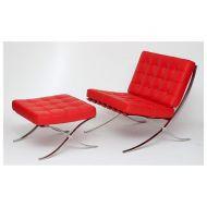 Fotel z podnóżkiem 77x75x78cm D2 BA1 czerwony
