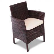 Fotel z technorattanu Milano Testrut 84x65cm brązowy