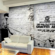 Fototapeta - Banksy - Graffiti Area (300x210 cm)
