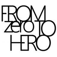 Napis na ścianę DekoSign FROM ZERO TO HERO czarny
