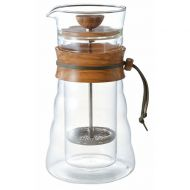 Hario Cafe Press Double Glass - Olive Wood - 600ml