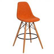 Krzesło barowe 46x54x105cm D2 P016W Duo pomarańczowo-szare