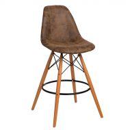 Krzesło barowe 46x54x105cm D2 P016W Pico brązowy ciemny